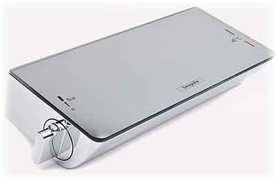 Détail vue de dessus en photo de l'Ecostat Select avec la tablette, on peut dire il est imposant