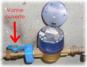 Pour remplacer un robinet, il est indispensable de vérifier la vanne compteur ne soit pas en position ouverte