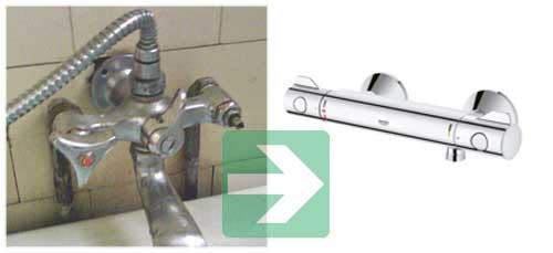 Remplacement du mitigeur thermostatique baignoire ou douche guide complet