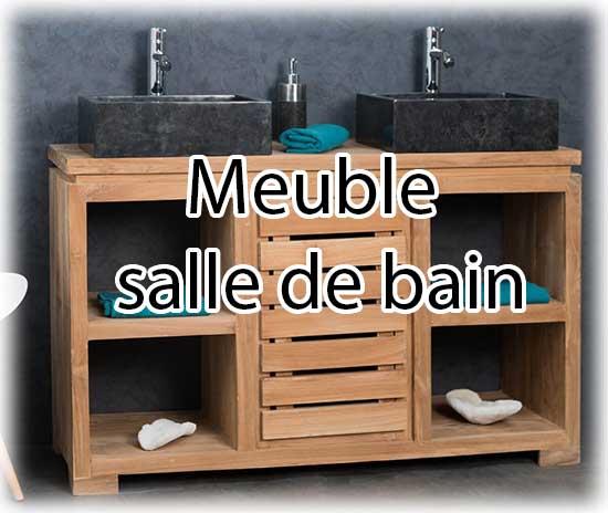 Exemple de meuble de salle de bain en bois